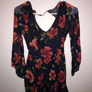 HOLLISTER open back floral dress